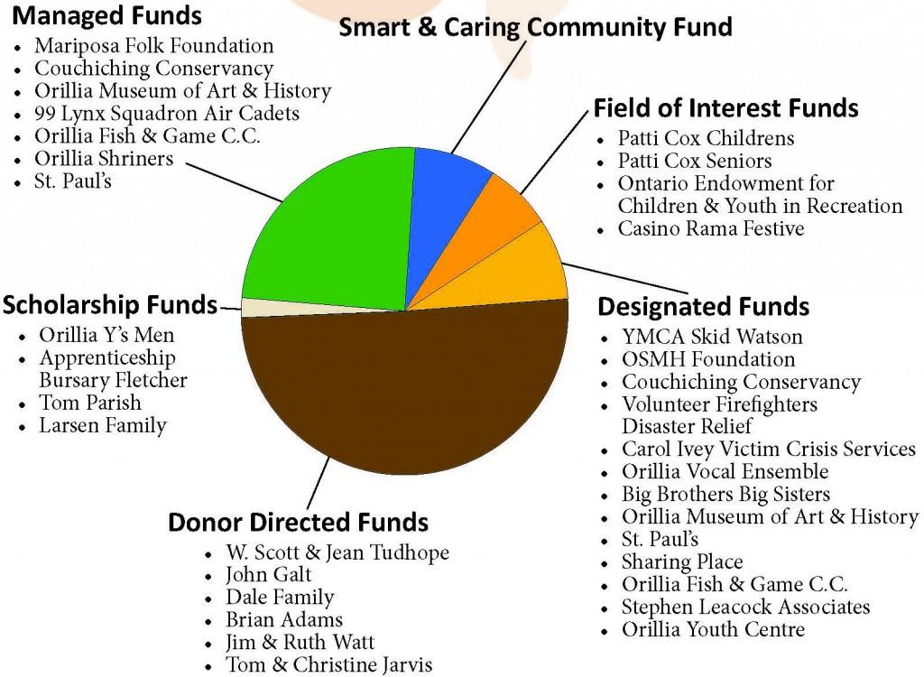 2019 Fund Pie chart